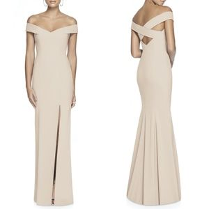 Dessy Collection Off the Shoulder Crossback Gown 2